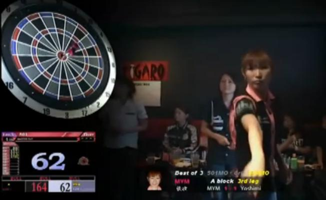 usagi Japanese woman soft darts contest
