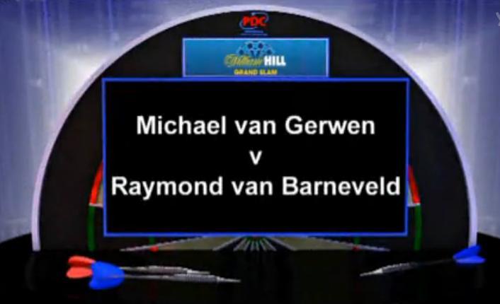 2012 Grand Slam Darts Finals van Gerwen v van Barneveld