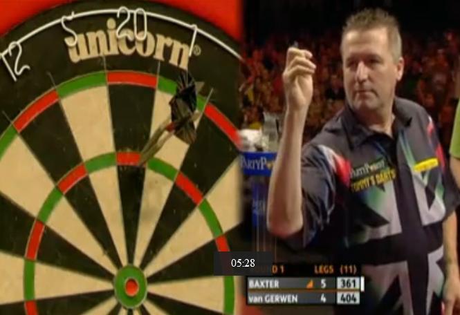 2011 European Darts Championship first round Ronnie Baxter v Michael van Gerwen
