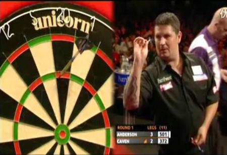2011 European Darts Championship first round Anderson v Caven