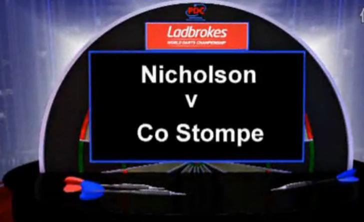 2013 世界飞镖锦标赛 第一轮 Nicholson vs Stompe