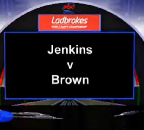 2013 World Darts Championship first round Jenkins vs Brown