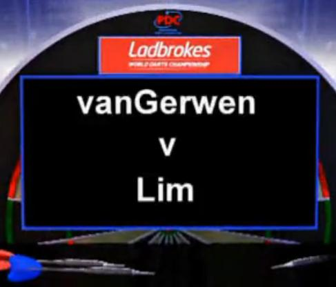 2013 World Darts Championship first round van Gerwen vs Lim
