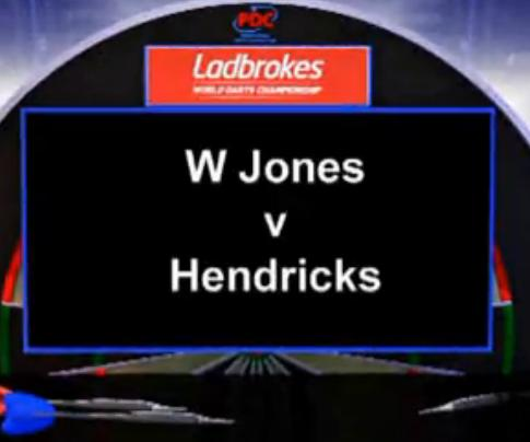 2013 世界飞镖锦标赛 第一轮 W Jones vs Hendrick