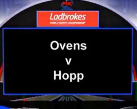 2013 世界飞镖锦标赛 第一轮 Ovens vs Hopp