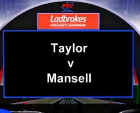 点击观看《2013 World Darts Championship first round Taylor vs Mansell》