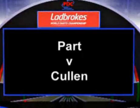 2013 World Darts Championship first round Part vs Cullen