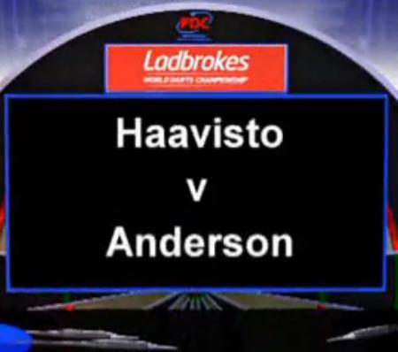 2013 世界飞镖锦标赛 第一轮 Anderson vs Haavisto