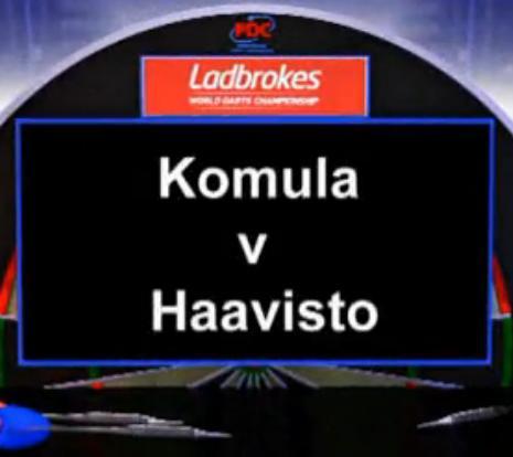 2013 世界飞镖锦标赛 第一轮 Komula vs Haavisto