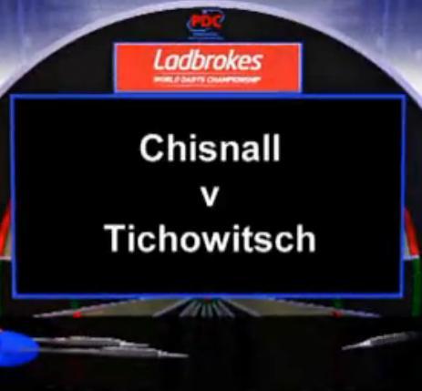 2013 世界飞镖锦标赛 第一轮 Chisnall vs Tichowitsch