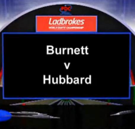 2013 World Darts Championship first round Burnett vs Hubbard