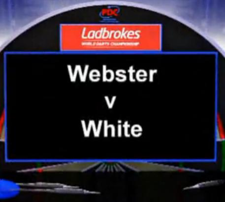 2013 World Darts Championship first round of M Webster vs White