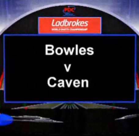 2013 World Darts Championship first round Caven vs Bowles