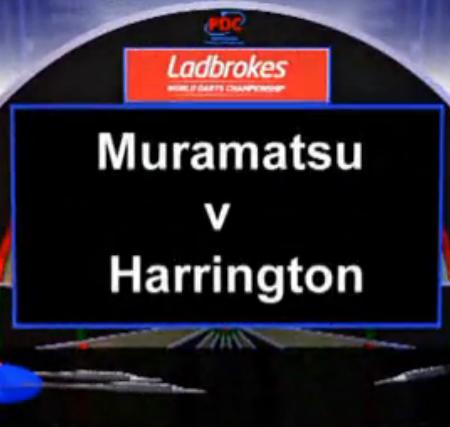 2013 世界飞镖锦标赛 第一轮 Muramatsu vs Harrington