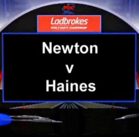 点击观看《2013 世界飞镖锦标赛 第一轮 Newton vs Haines》