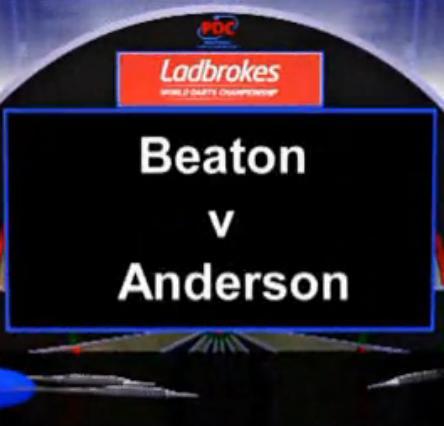 2013 World Darts Championship first round Beaton vs Anderson