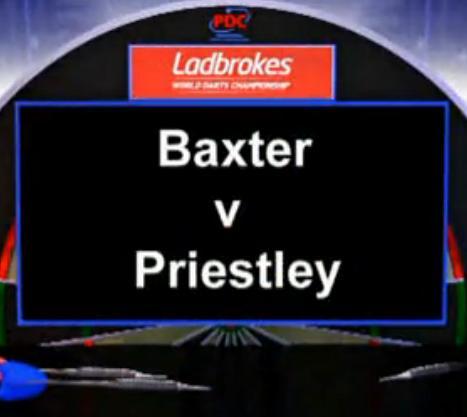 点击观看《2013 世界飞镖锦标赛 第一轮 Baxter vs Priestley》