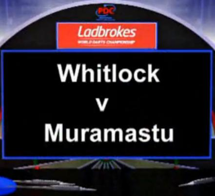 2013 World Darts Championship first round Whitlock vs Muramatsu