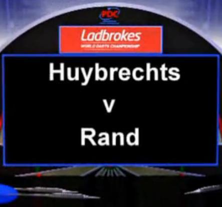 2013 世界飞镖锦标赛 第一轮 Huybrechts vs Rand