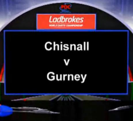 2013 World Darts Championship second round Chisnall vs Gurney