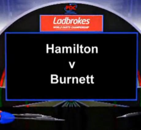 2013 World Darts Championship second round of the Hamilton vs Barnett