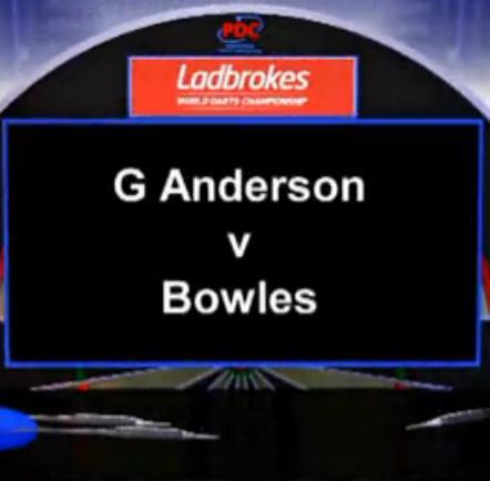 点击观看《2013 世界飞镖锦标赛 第二轮 G Anderson vs Bowles》