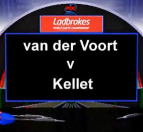 2013 World Darts Championship first round Voort vs Kellet