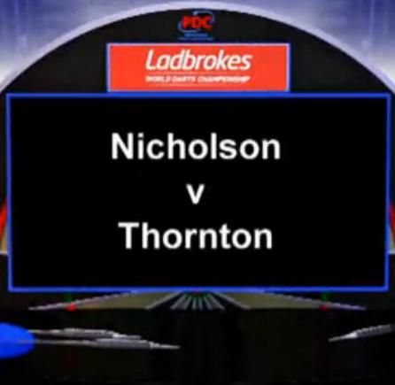 2013 World Darts Championship second round Nicholson vs Thornton