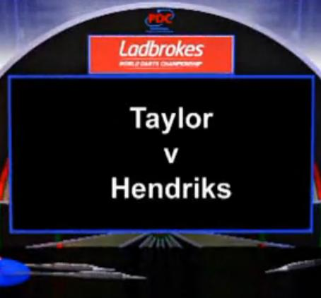 2013 World Darts Championship second round Taylor vs Hendriks