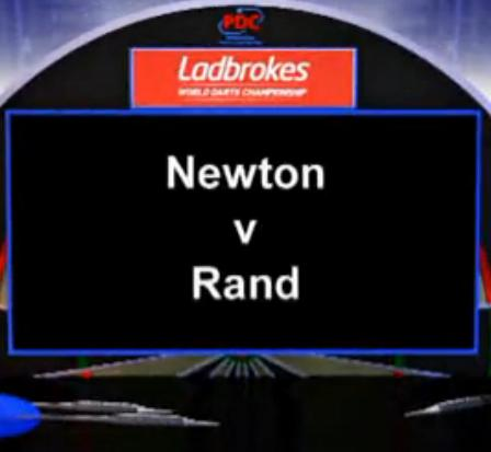 2013 PDC World Darts Championship second round of Newton vs Rand