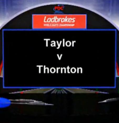 点击观看《2013 PDC世界飞镖锦标赛 第三轮 Taylor vs Thornton》