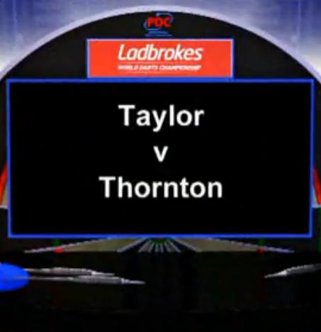 2013 PDC World Darts Championship third round Taylor vs Thornton