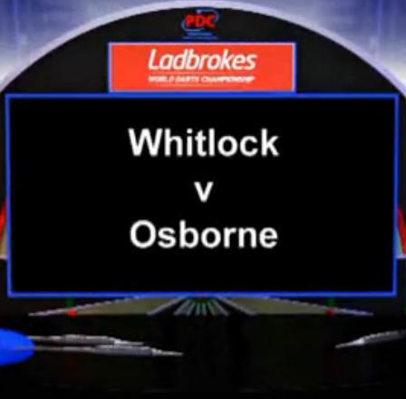 2013 World Darts Championship second round Whitlock vs Osborne