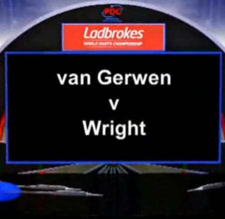 2013 World Darts Championship second round of the van Gerwen vs Wright
