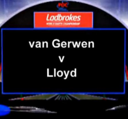 2013 World Darts Championship third round van Gerwen vs Lloyd