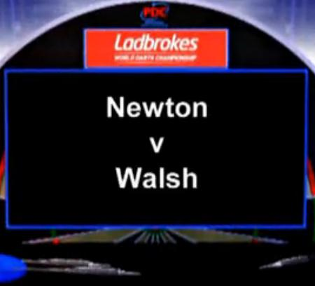 2013 World Darts Championship third round Newton vs Walsh
