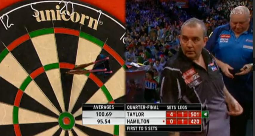 2013 World Darts Championship quarterfinals Taylor vs Hamilton