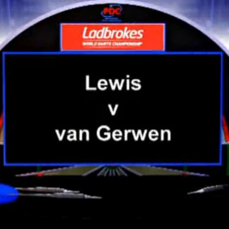 点击观看《2013 World Darts Championship quarterfinals Lewis vs van Gerwen》