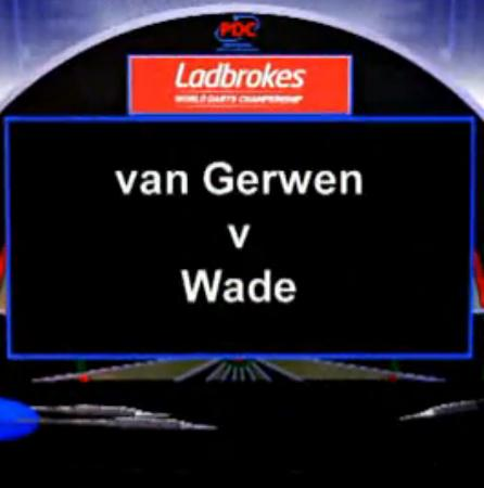 2013 PDC World Darts Championship half finals van Gerwen vs Wade