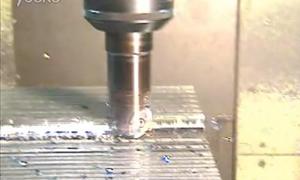 硬质钨合金粗球头铣刀加工演示