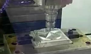 钨钢铣刀雕刻演示