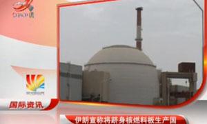 伊朗宣称将跻身核燃料板生产国