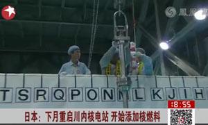 日本下月重启川内核电站开始添加核燃料