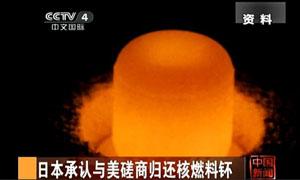 日本承认与美国磋商归还核燃料钚