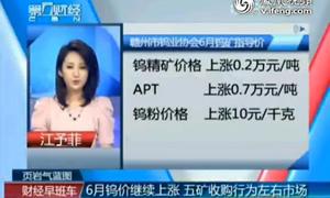 点击观看《钨价继续上涨 五矿收购行为左右市场》