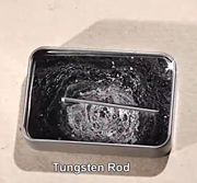 Mercury vs tungsten - the world's highest surface tension