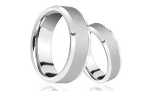 Tungsten ring.White tungsten gold ring.Hardness test